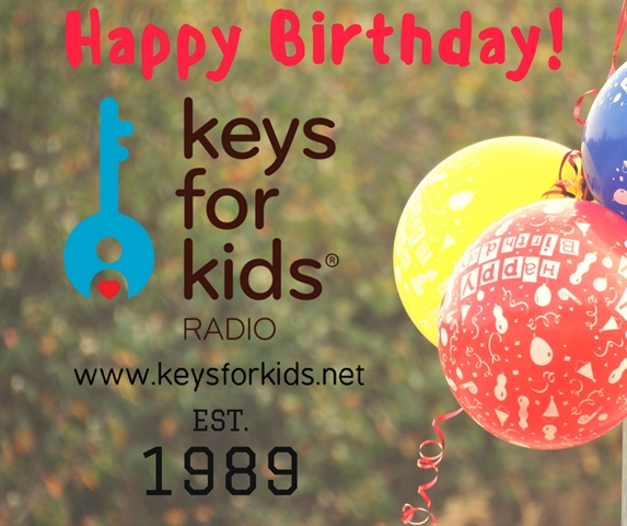 Happy Birthday Keys for Kids Radio!!!