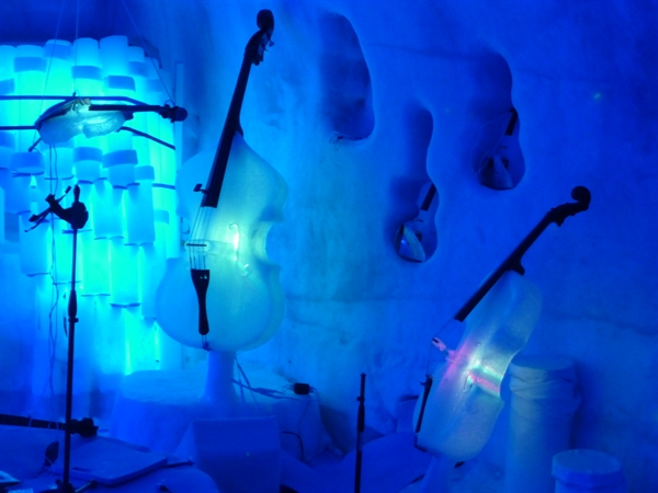 All of the Instruments are Made From Ice!