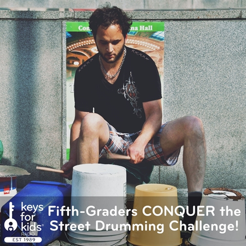 Fifth Graders CONQUER the Street Drumming Challenge
