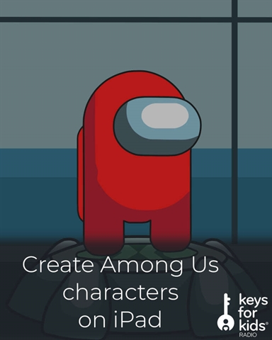 Draw your own Among Us character on the iPad!
