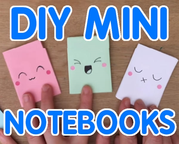 Mini Notebook Back to School Craft