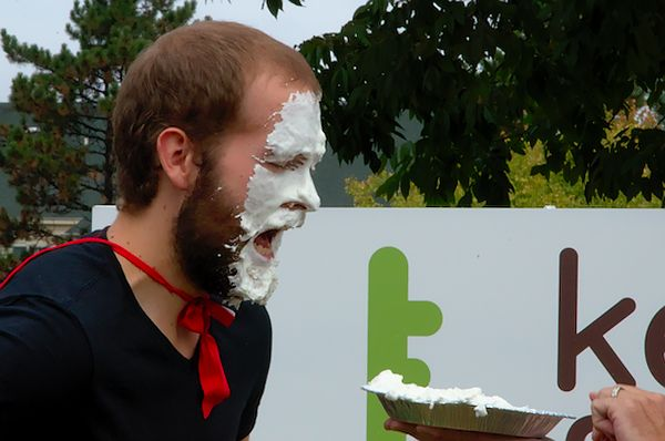 Dylan Gets a PIE in the Face!!