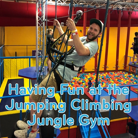 Have Fun at the Jumping Climbing Jungle Gym!