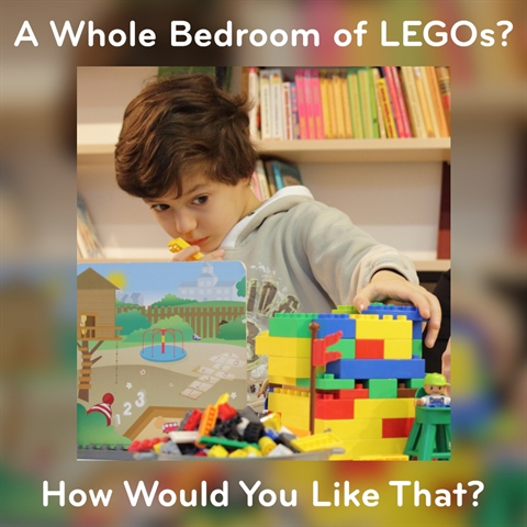 A Whole BEDROOM of LEGO Furniture