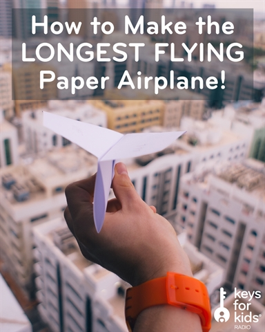 How to Fold the LONGEST FLYING Paper Airplane!