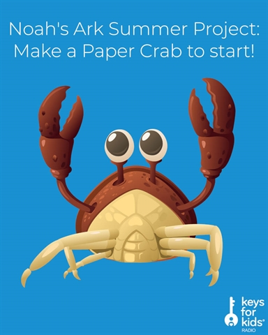 Start Noah's Ark with a Paper Crab Craft!