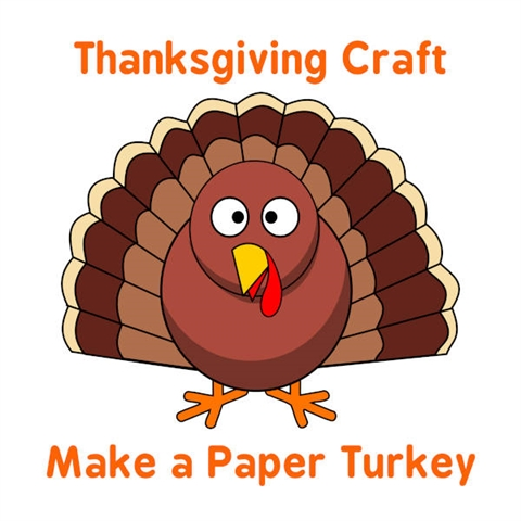 Thanksgiving Paper Turkey Craft