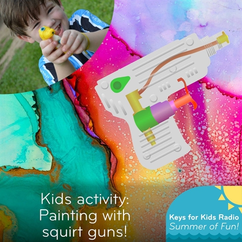 Painting with SQUIRT GUNS