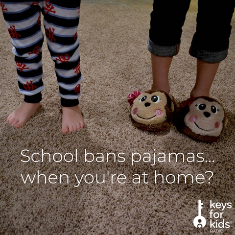 School bans pajamas...when you're at home?