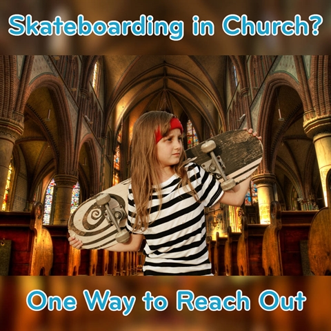 Skateboarding in Church!