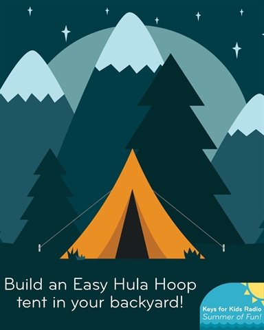 Easy: Build a Hula Hoop Tent in the Garden!