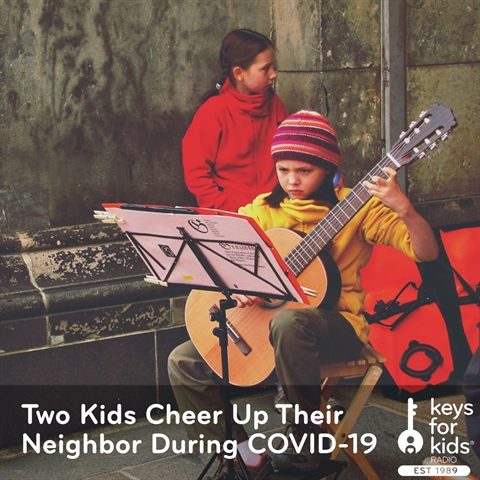 Two Kids Cheer Up Their Neighbor During COVID-19