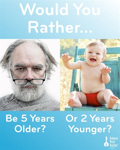 Would You Rather Grow Up or Be Young Again?
