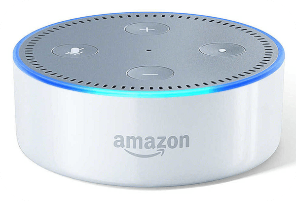 A white Amazon Echo Dot that you could win!